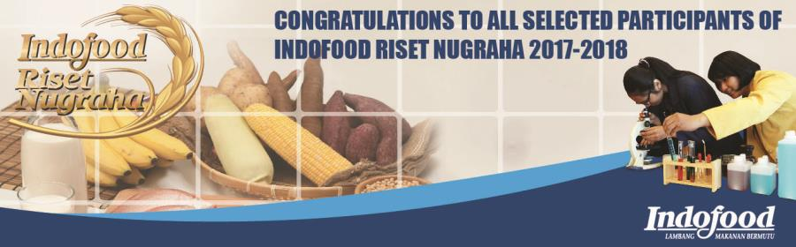 List of Indofood Riset Nugraha Participants 2017 - 2018